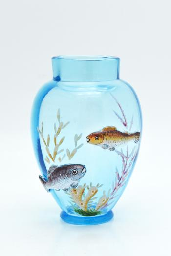 Hand Blown Glass Turquoise Fish