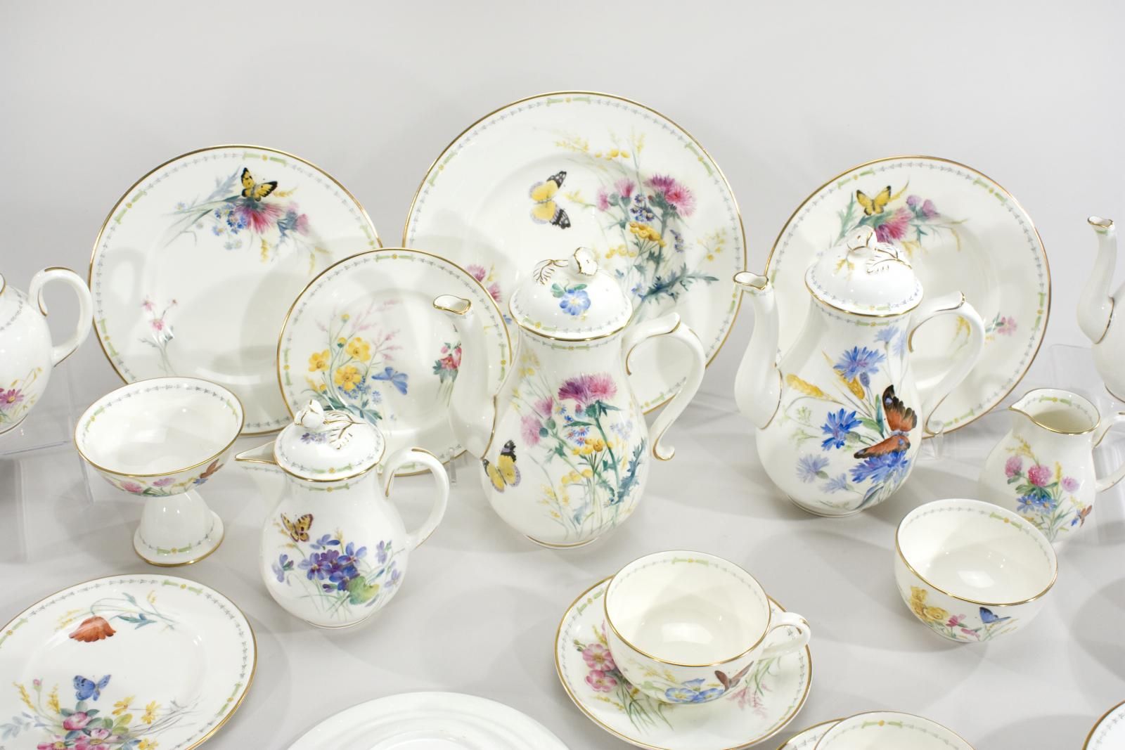 Royal Worcester Hand Painted Complete