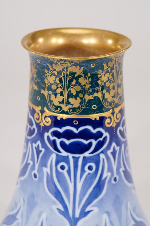 Doulton Burslem Art Nouveau Vase With Poppies Vases